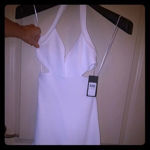 Guess S White Bodycon Cutout Mini Cocktail dress